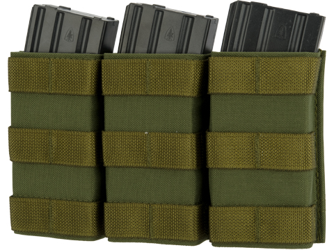 Esstac Triple Tall 5.56mm KYWI Magazine Pouch (Color: OD Green)