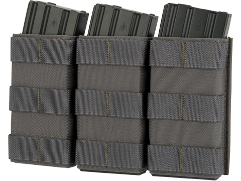Esstac Triple Tall 5.56mm KYWI Magazine Pouch (Color: Wolf Grey)