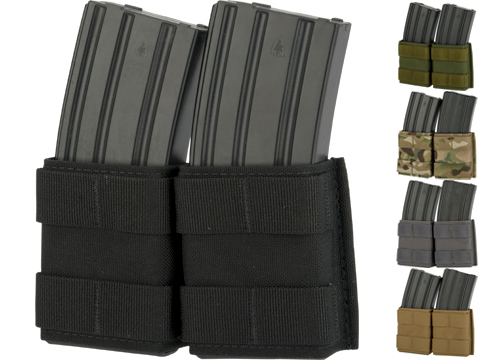 Esstac Double 5.56mm Shorty KYWI Magazine Pouch (Color: Coyote)