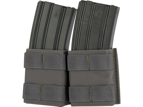 Esstac Double 5.56mm Shorty KYWI Magazine Pouch (Color: Wolf Grey)
