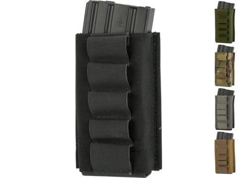 Esstac Single Tall 5.56mm KYWI Magazine Pouch with Shotgun Shell Loops
