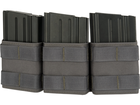 Esstac Triple 7.62mm Shorty KYWI Magazine Pouch (Color: Wolf Grey)