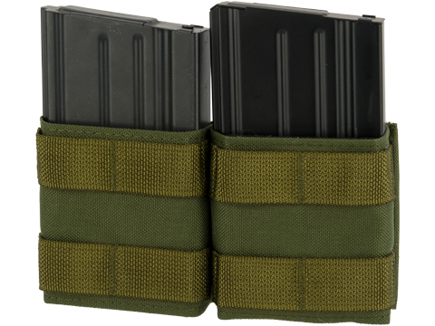Esstac Double 7.62mm Shorty KYWI Magazine Pouch (Color: OD Green)