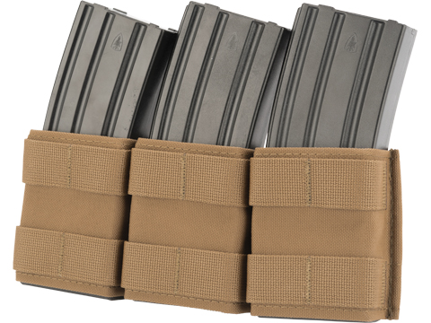 Esstac Triple Shorty 5.56mm KYWI Magazine Pouch (Color: Coyote Brown)