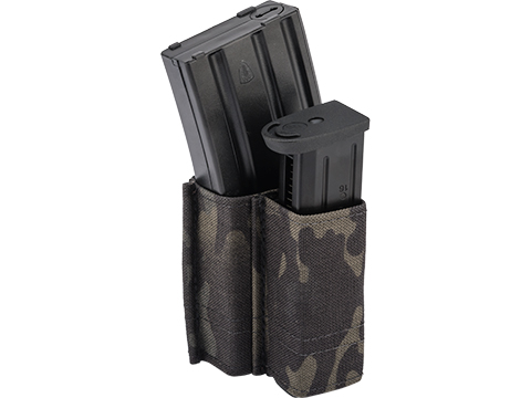 Esstac 5.56 1+1 KYWI Shorty Double Stack Magazine Pouch with Belt Loops (Color: Multicam Black)