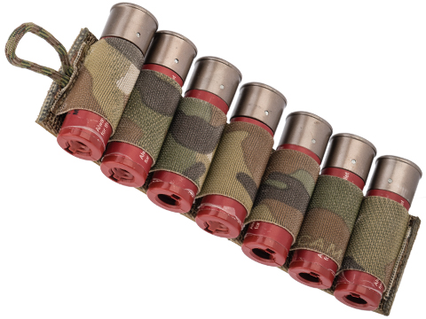 Esstac 7rd 12ga Shotgun Shell Card with Sticky Back Hook & Loop (Color: Multicam)
