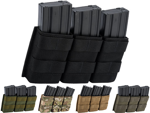 Esstac Triple Midlength 5.56mm KYWI Magazine Pouch (Color: Black)