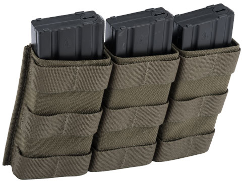 Esstac Triple Tall 5.56mm KYWI Magazine Pouch (Color: Ranger Green)