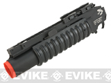 G&P Skull Frog Airsoft Quick Lock QD M203 Grenade Launcher (Color: Black / Short)