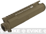 G&P Battlefield Type Upper Receiver for M4 / M16 Series Airsoft AEG Rifles (Color: Dark Earth)
