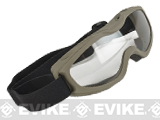 Guard-Dogs Evader II FogStopper Full Seal Goggles (Color: Dark Earth / Clear)