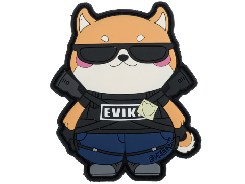 Evike.com The DOGE Hook & Loop PVC Morale Patch (Style: The Eviketor)