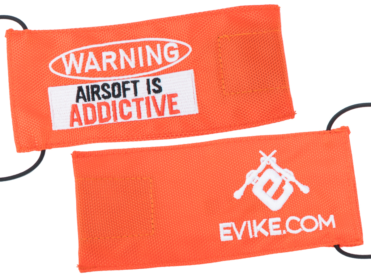 Evike.com Tactical Airsoft Barrel Cover w/ Bungee Cord (Model: Addictive / Orange / Large)