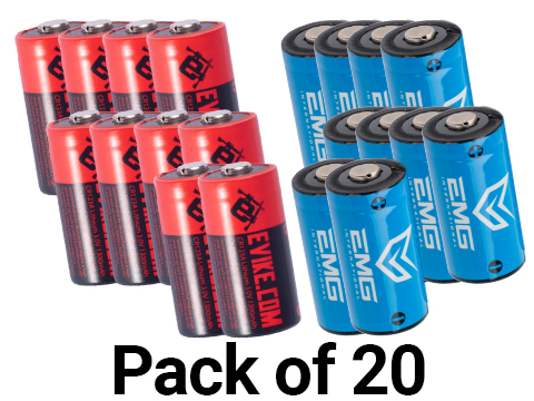 High Performance CR123A 3V Lithium Battery (Quantity: Pack of 20)