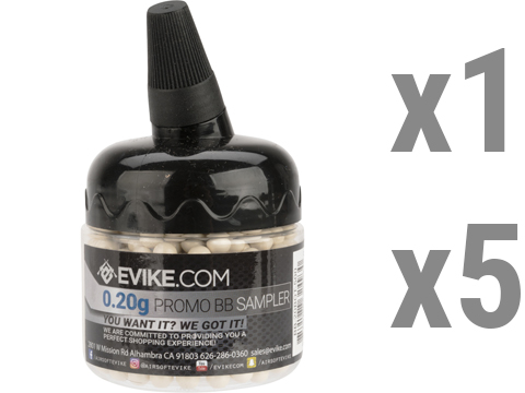 Evike.com 0.20g MAX Precision 6mm Airsoft BB 500 Round Promotional Bottle (count: 1 Bottle)