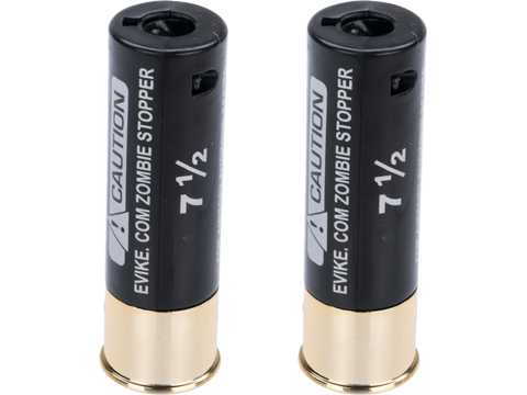 Evike Zombie Stopper 30 Round Shells for Multi & Single-Shot Airsoft Shotguns (Color: Black / 2 Pack)