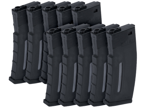 Evike.com BAMF 190rd Polymer Mid-Cap Magazine for M4 / M16 Series Airsoft AEG Rifles (Color: Black / Package of 10)