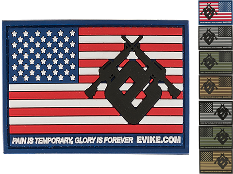 Evike.com US Flag PVC Hook and Loop Patch