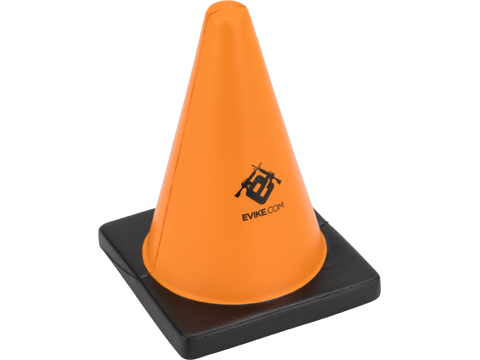 The Evike.com Orange Cone - Foam Interactive Target Stress Relief / Shooting Drill Marker