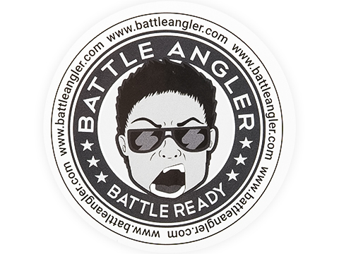 Battle Angler Battle Ready Sticker (Size: 3 x 3 Circle)