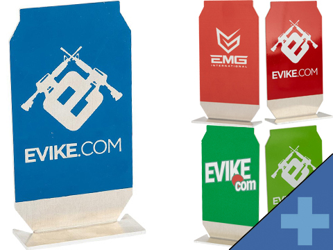 Evike.com ePopper Practical Shooting Popper Targets (Package: EMG Logo x1 / Red)