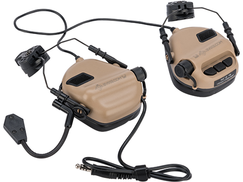 Earmor M32H MOD3 Tactical Communication Hearing Protector for ARC FAST MT Helmets (Color: Tan)