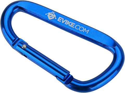 Evike.com Licensed QD Tactical Metal Carabiner Type Keychain (Color: Evike Blue)