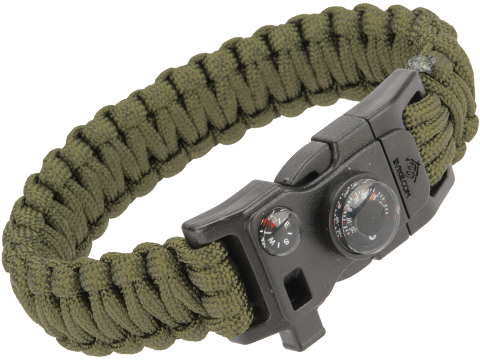Evike.com Paracord Advanced Survival Bracelet with Firestarter (Color: OD Green / 7)