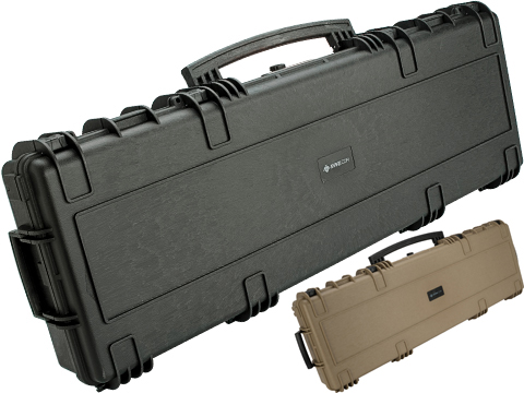 Evike.com Armory 45 Waterproof Rolling Hard Shell Locking Gun Case w/ Custom Grid Foam (Color: Black)