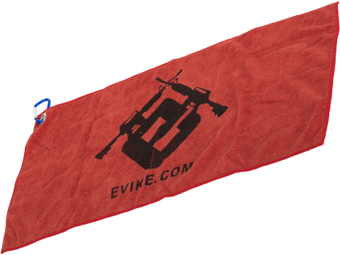 Evike.com Light Weight Airsoft Mil-Sim Essential Red Dead Rag (Type: Dark Red w/ Carabiner)