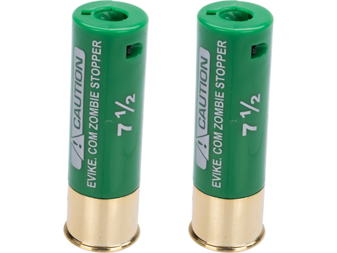 Evike Zombie Stopper 30 Round Shells for Multi & Single-Shot Airsoft Shotguns (Color: Green / 2 Pack)
