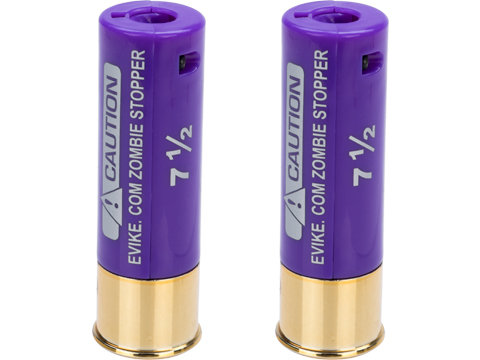 Evike Zombie Stopper 30 Round Shells for Multi & Single-Shot Airsoft Shotguns (Color: Purple / 2 Pack)