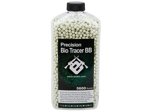 Evike.com Biodegradable Match Grade 6mm Airsoft Tracer BBs (Color: Green Tracer / .25g / 5600 Rounds)