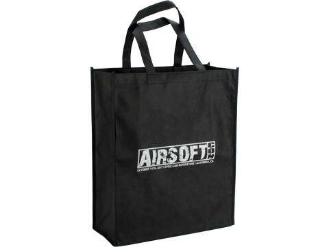 Evike.com Airsoftcon Multipurpose Reuseable Tote Bag (Color: Black)