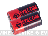 Evike.com High Performance CR123A 3V Lithium Battery for Tactical & Electronic Equipments (Two)
