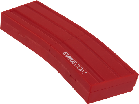 Evike.com M4 AR15 Magazine Shaped Accessory Tool Box (Color: Red / Evike.com)