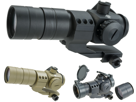 Evike Extreme 1.5x30 Red Dot Sight Scope System w/ Magnifier (Color: Black)