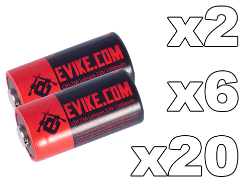 Evike.com High Performance CR123A 3V Lithium Battery (Package: Pack of 2)