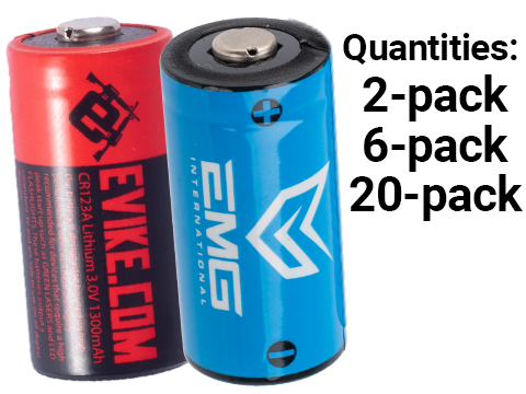High Performance CR123A 3V Lithium Battery (Quantity: Pack of 2 / Evike.com)