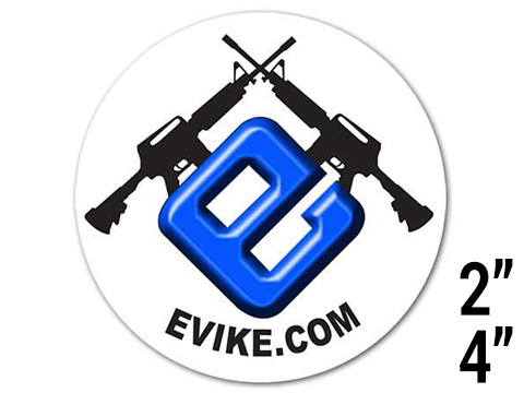 Evike.com Small Vinyl Automotive Decal Sticker