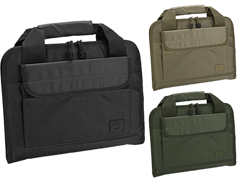 Evike.com 12x14 Padded Double Pistol Handgun Carrying Case (Color: Black)