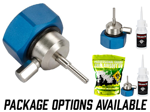 Airsoft Evike.com CNC Aluminum Propane Adapter w/ Integrated Silicone Port (Package: Adapter)