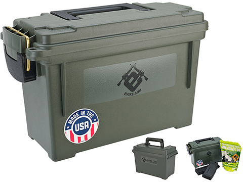 Evike.com Made in USA Molded Polypropylene Stackable Ammo Can by Plano