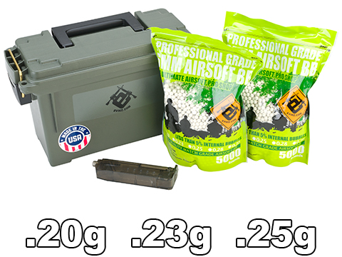 Evike.com Molded Polypropylene Stackable Ammo Can (Made in USA) BB Resupply Kit -