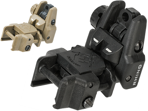 Dual-Profile Rhino Flip-up Rifle / SMG Sight by Evike - Rear Sight