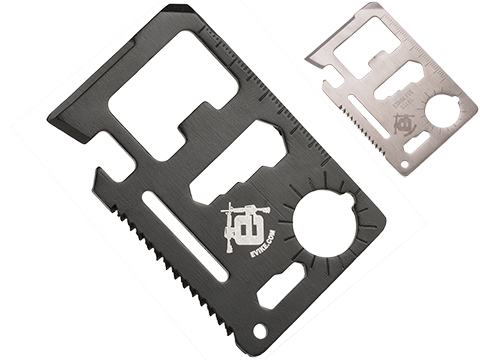 Evike.com Stainless Steel CNC Credit Card Sized Multi-Tool (Color: Black)