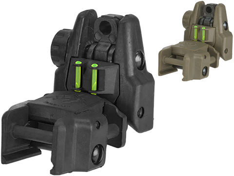 Dual-Profile Rhino Fiber Optic Flip-up Rifle / SMG Sight by Evike