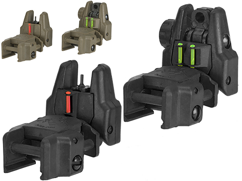 Dual-Profile Rhino Fiber Optic Flip-up Rifle / SMG Sight by Evike (Color: Black)