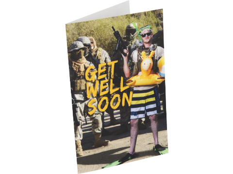 Evike.com Get Well Soon Greeting Card - Poolside Matt