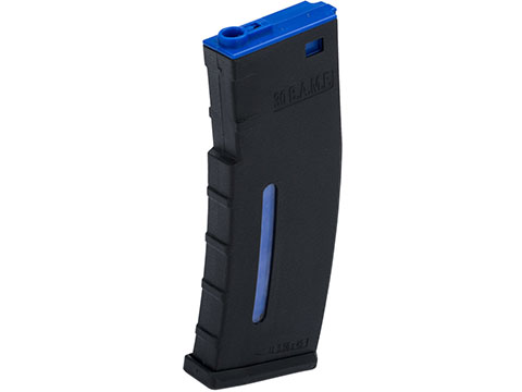 Evike.com BAMF 190rd Polymer Mid-Cap Magazine for M4 / M16 Series Airsoft AEG Rifles (Color: Black w/ Blue / Single Magazine)